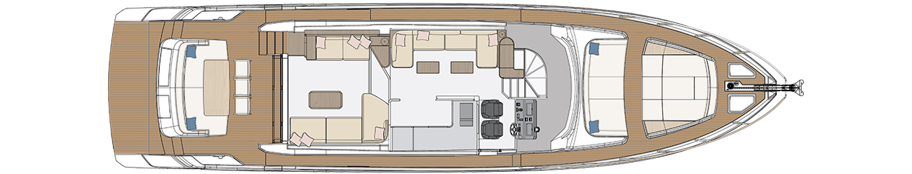 MAIN DECK - OPEN GALLEY LAYOUT
