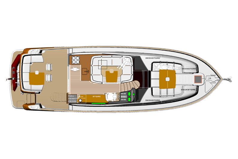 Azimut Magellano 50 - Lowerdeck 2 cabins, a studio and a dinette