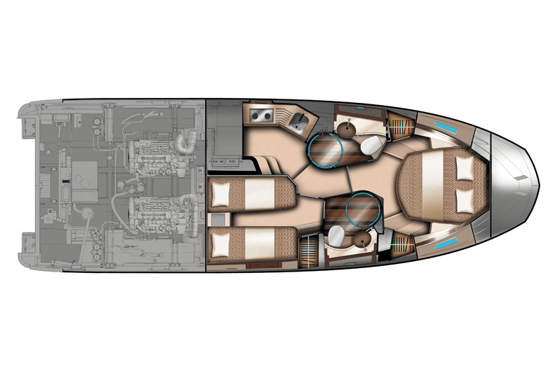 Azimut 40 - Lowerdeck. My Azimut. Access the Azimut Yachts premium area to