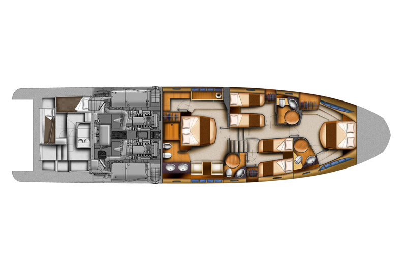 Azimut 70 - Lowerdeck. My Azimut. Access the Azimut Yachts premium area to