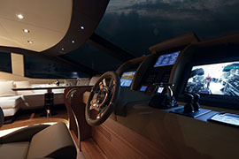 Azimut 88 - Internal Wheelhouse